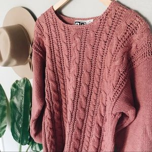 Vintage BP Cableknit Pink Sweater